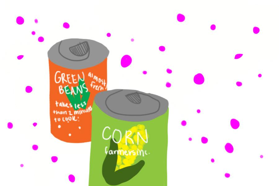Student Council hosted a canned food drive for the holidays. Illustration by Emma Jean Shuemake