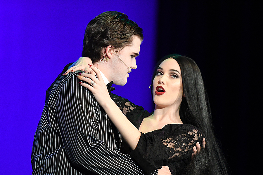 Seniors Nathan May and Julia Butcher play Gomez and Morticia Addams during the annual school musical