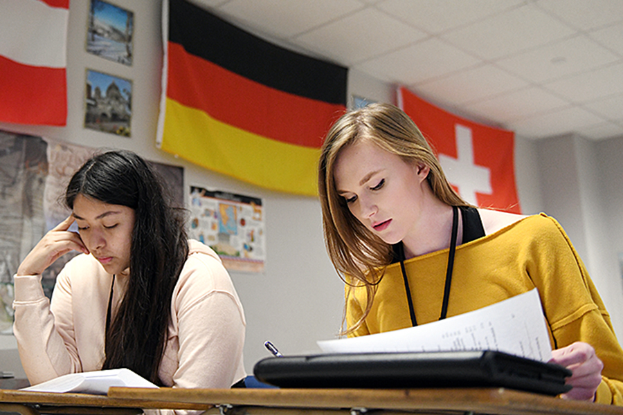 After teaching German in RISD for 11 years, teacher Kevin Smith got a call notifying him that German would no longer be offered as a class. Talon Photo by Kathryn Yung Photo credit: Kathryn Yung