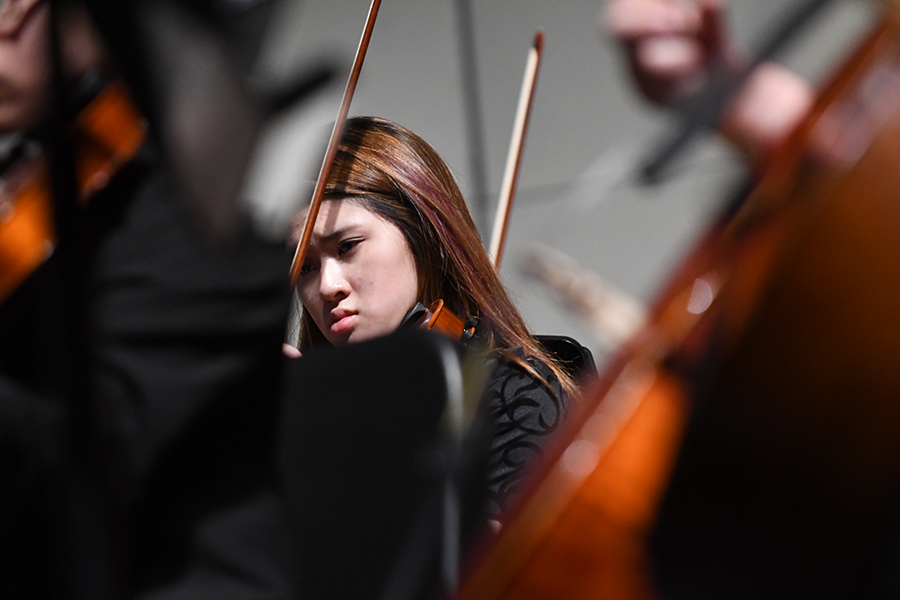 Freshman+Irene+Chao+plays+the+viola+at+the+fall+concert%2C+the+first+school+event+she+ever+performed+at.+Talon+photo+by+Sarah+Ventimiglia