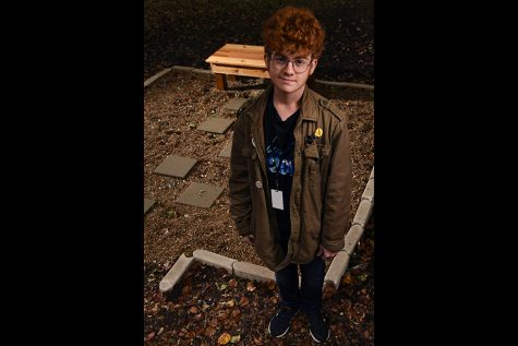 When senior Jake Parrish had to come up with a project for his Eagle Scout badge, he immediately thought of an old idea he had about providing a place at RHS for students to escape stress and reduce anxiety. Talon Photo by John Hydrick